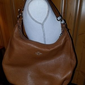 COACH PEBBLED LEATHER TAN HOBO